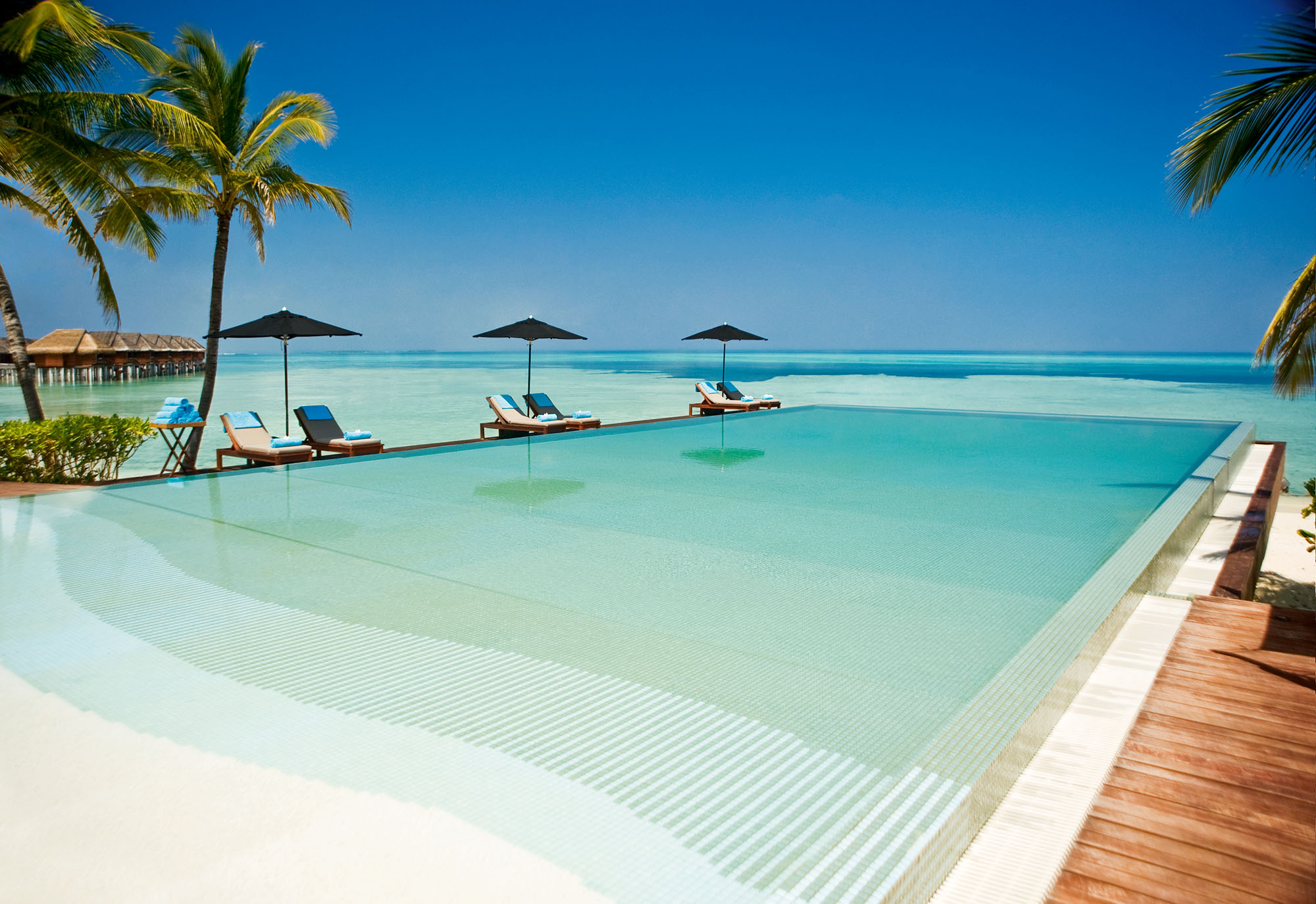 Four Infinity Pools in the Maldives