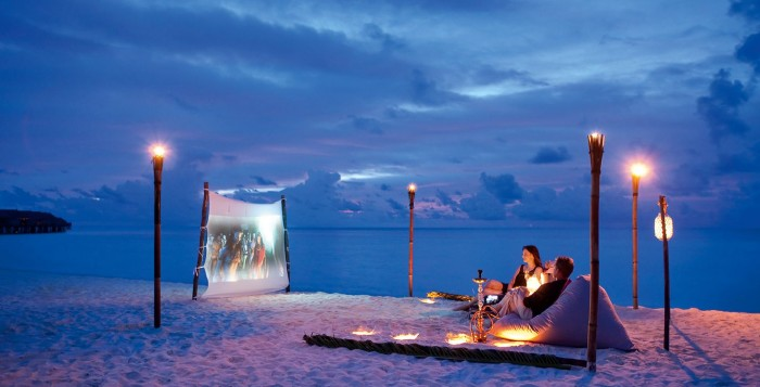 Resorts that offer movie night under the stars