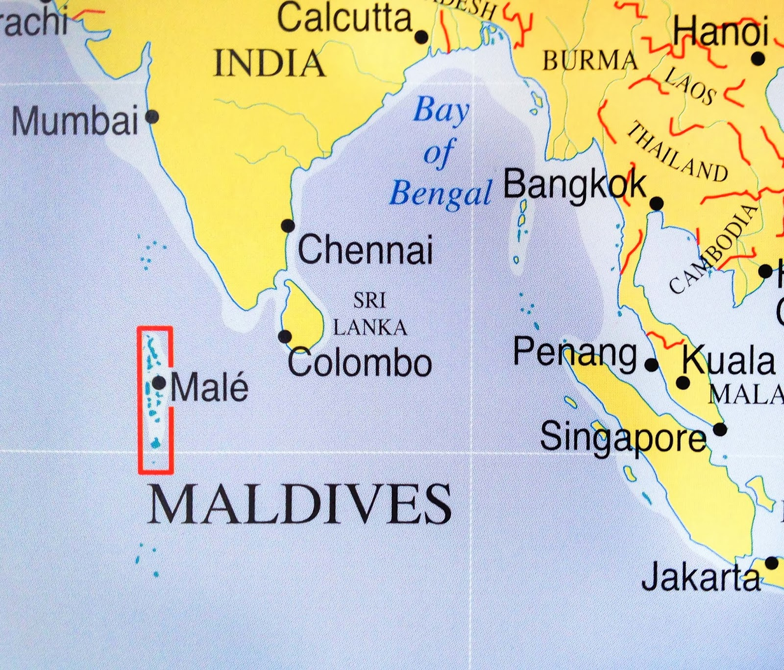 Is Maldives Located - Where is maldives in the world