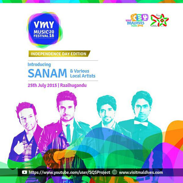 The Indian pop band SANAM in Maldives