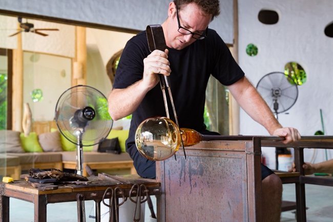 Glass Maker at Soneva Fushi